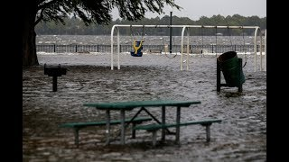 hurricane Florence floods torrential rains, surge, storm, inundations, inland floods