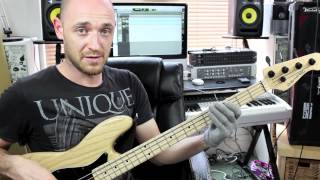 Funky Bass Groove Breakdown - Lesson With Scott Devine (L#66)(Start Your FREE ScottsBassLessons Trial Here: http://scottsbasslessons.com/ ▻ Grab Your Ultimate Bass Players Toolkit here: ..., 2012-06-19T10:57:29.000Z)