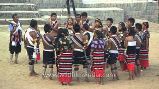 Zeliang tribe from Nagaland singing folk songs