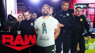 Rusev is taken away from Raw in handcuffs: Raw Exclusive, Nov. 25, 2019