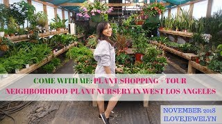 Come with me: Plant shopping + tour | Neighborhood Plant Nursery | West LA | Nov 2018 | ILOVEJEWELYN