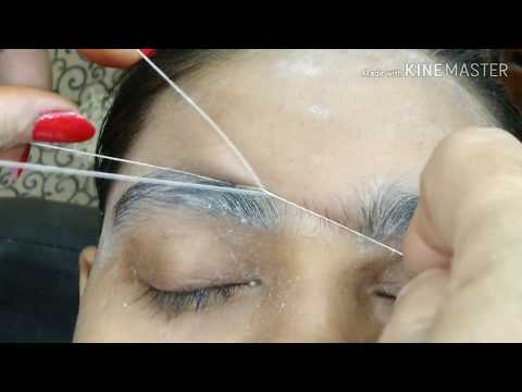 How to do Threading, Forehead, upper lip, chin  (in Hindi) step by step