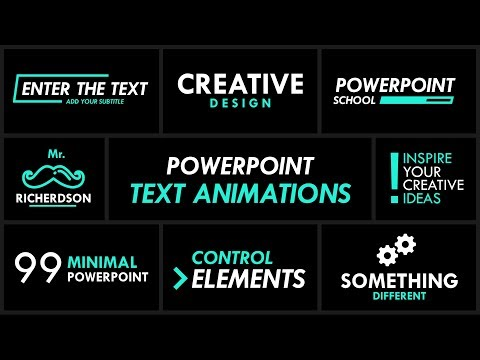Make PowerPoint Text Animation