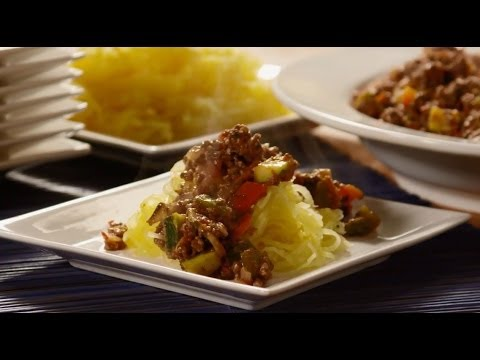 How To Make Spaghetti Squash With Meat Sauce | Paleo Recipes | Allrecipes.com