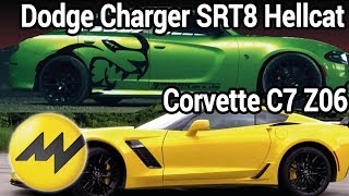Dodge Charger SRT8 Hellcat und Corvette C7 Z06 | MOTORVISION TV #SPOTTED