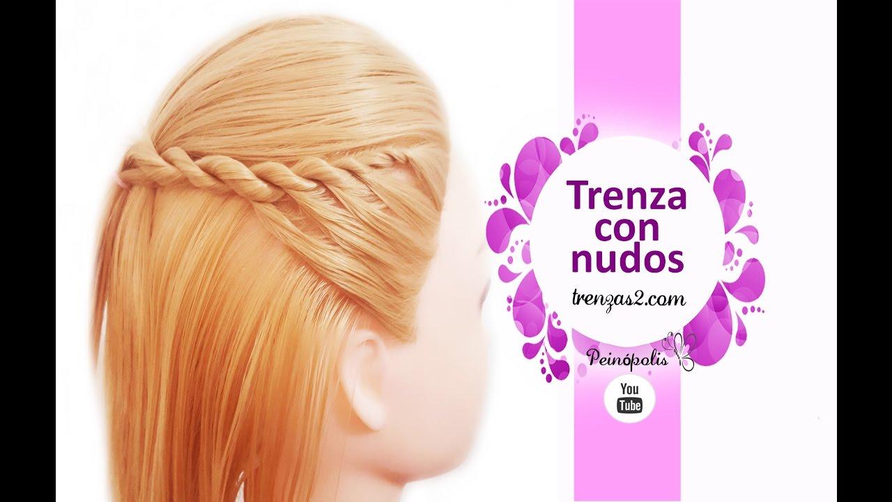 Peinados faciles y rapidos para cabello corto - Semirecogidos con trenzas ...