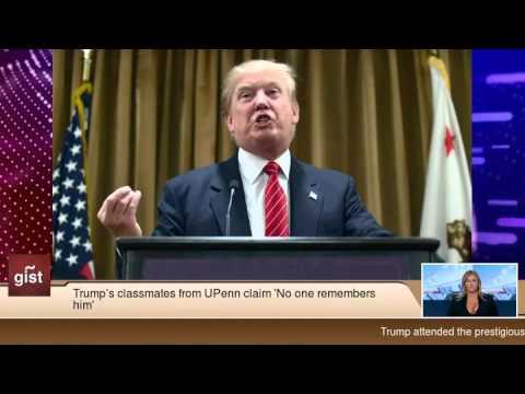 Trump's classmates from UPenn claim