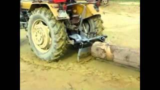 Zrywka drewna Ursus c330 Próba wciągarki (tzk yanamar t25)