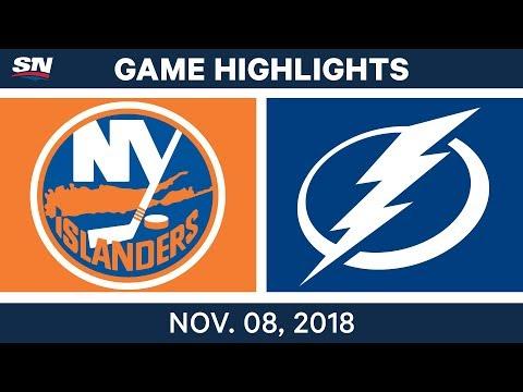 NHL Highlights | Islanders vs. Lightning – Nov. 8, 2018