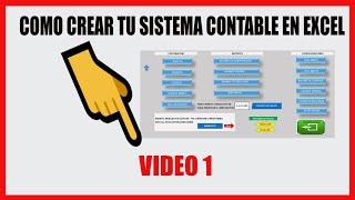 Como Crear un Sistema Contable en Excel - Tema 1 thumbnail