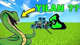 SİNANI YILAN SOKTU !! Minecraft Snake Lucky Wars w/Sinan Koçali