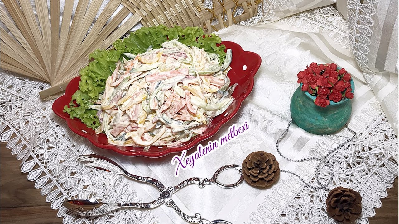 Rəngli Bibər Salati Asan Resept Biber Salatasi Kolay Tarif Salat Iz Percev Raznyh Cvetov Youtube