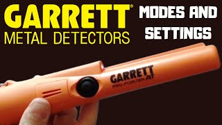 Garrett Pro-Pointer AT, Pinpointer Modes and Settings