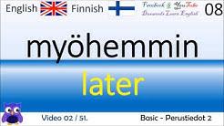 02 Basic   Perustiedot 2 - Suomi - Englanti Sanat / Finnish - English Words / Englanti ohjaaja