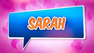 Joyeux Anniversaire Sarah