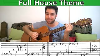 Fingerstyle Tutorial: Full House Theme - Guitar Lesson w/ TAB
