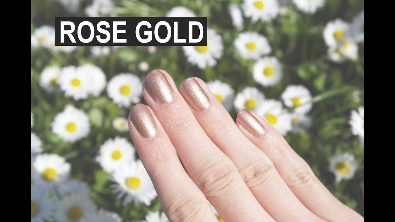ROSE GOLD MIRROR NAILS using eyeshadow - YouTube