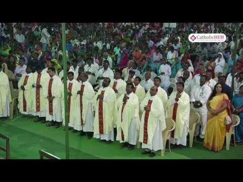 Feast Mass of Gunadala Matha Shrine @ Gunadala Matha Shrine,Gunadala,Vijayawada,AP,India,10-02-17