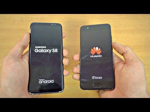 Samsung Galaxy S8 vs Huawei P10 - Speed Test! (4K)