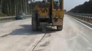 Виброрезонансная деструктуризация цементобетона