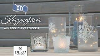 DIY-Weihnachtsdeko: Kerzengläser wunderschön winterlich verzieren [How to] Deko Kitchen (P)