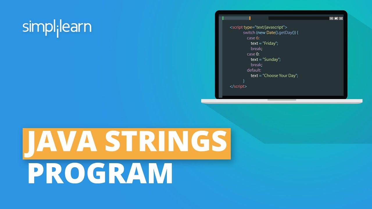 Java Strings Tutorial   String Manipulation in Java   Java Tutorial For Beginners