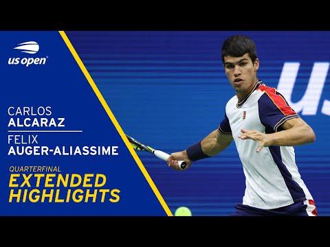 Felix Auger-Aliassime vs Carlos Alcaraz Extended Highlights   2021 US Open Quarterfinal