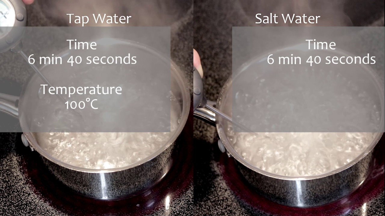 salt water boils at what temperature
