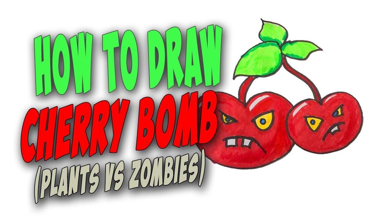 How To Draw A Cherry Bomb Easy Plants Vs Zombies Mr Cute Cartoon Drawing Club By Mr Cute Cartoon Drawing Club