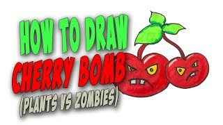How To Draw A Cherry Bomb Easy (Plants vs Zombies) – Mr. Cute Cartoon Drawing Club