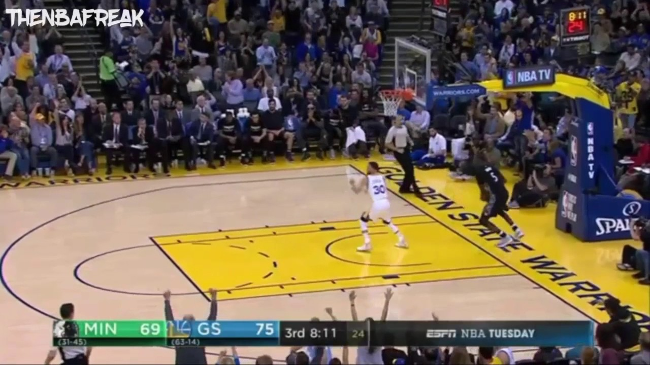 Stephen Curry Dunk Vs Timberwolves Youtube