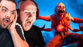 We played a HORROR game for the first time...