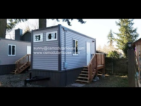 CS Modular Flat pack container house installation video