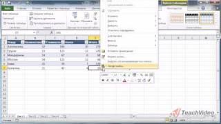 Работа с таблицами в Microsoft Office Excel 2010 (17/50)