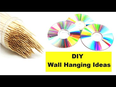 diy-wall-decor-ideas,wall-hanging,ideas,recycling-ideas