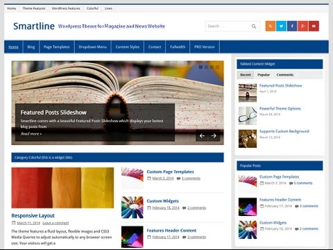 Smartline Magazine Wordpress Theme Demo And Video Documentation ...