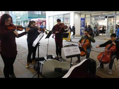 zeppelinism  CLASSICAL MUSICAL MUSICIANS BUSKING IN MANCHESTER ..2016