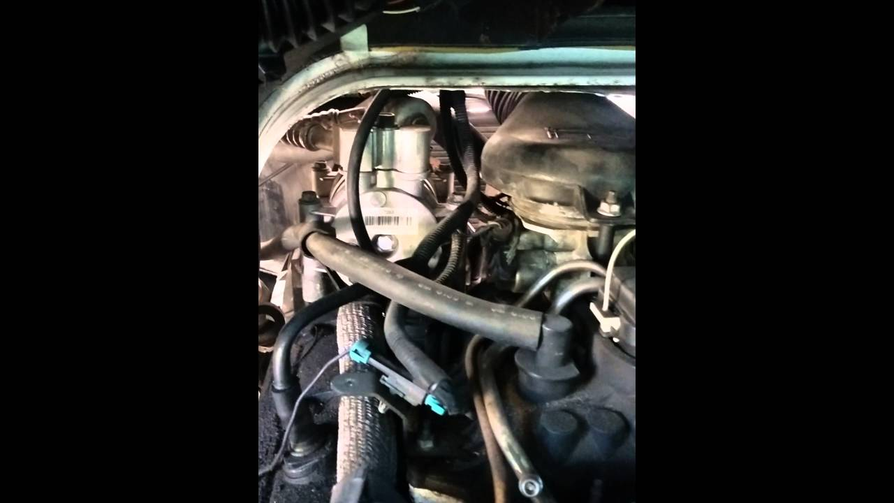 Chevy Express van AC vacuum line 2002 YouTube