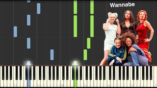 Wannabe - Spice Girls - Piano Tutorial