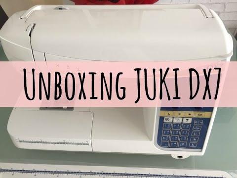 Unboxing máquina de coser JUKI DX7 - YouTube