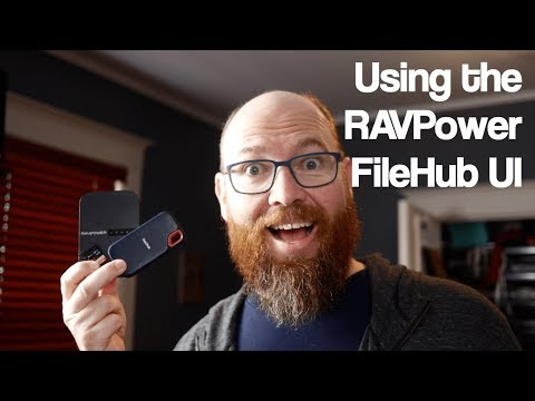 Using the RAVPower FileHub UI to work with files