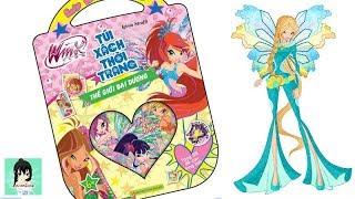 """Sách chơi trò chơi, tô màu, dán hình Winx """"THẾ GIỚI ĐẠI DƯƠNG"""" #4 / Winx club book Ami Channel"""