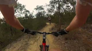Oaks Realigned Section MTB Blue Mountains Woodford to Glenbrook Trail End