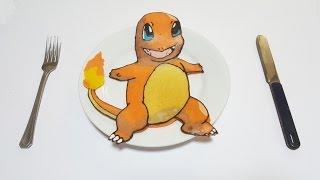 팬케이크 아트 포켓몬스터 파이리 pancake art pocket monster charmander 13