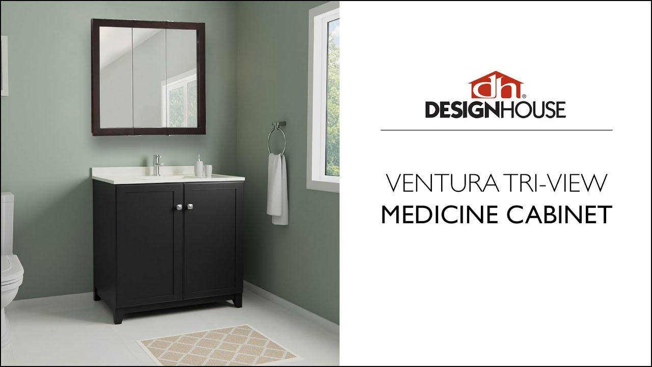 Design House Tri View Medicine Cabinet