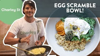 How to Make a 1-Minute Egg Scramble Bowl!