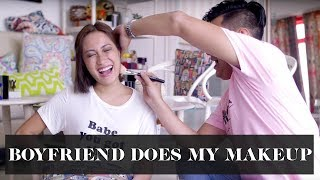 Boyfriend Does My Makeup | Laureen Uy
