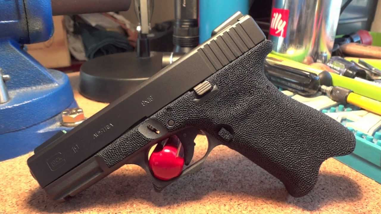 Glock 19 9mm with Grip Reduction, Stippled frame, & custom Cerakote ...