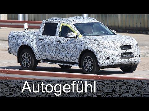 Mercedes X-Class new Pickup GLX? GLT? based on Nissan Navara truck - spy shots camo car all-new neu