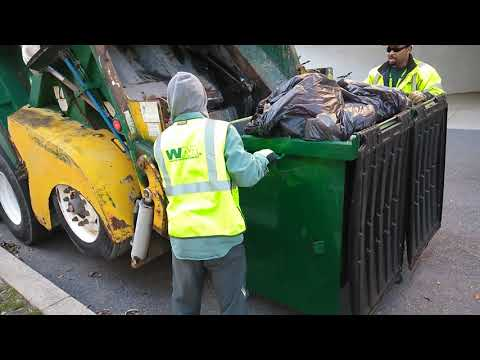 Waste management with an oversized dumpster
